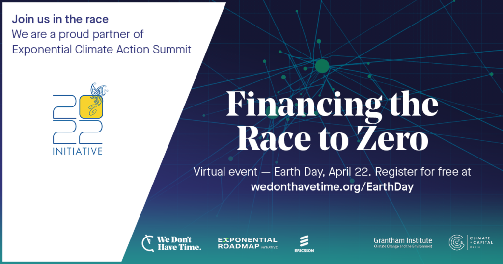 Financing the Race to Zero Earth Day 2021