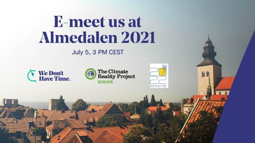 E-meet us in Almedalen 5 July